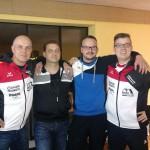 Siegreiches Team v.l. Blasinger, Müller, Kern, Alles