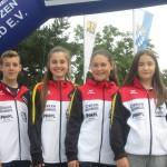 Nachwuchs SV Wallenrod (von re Jannik Möller, Julia Luft, Johanna Christ, Finja Schönhals)